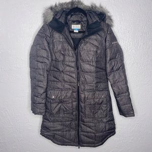 Women's Columbia Long Grey Puffer Jacket Coat
